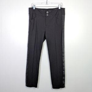 CAbi Tuxedo Skinny Ponte Knit Black Trouser 991